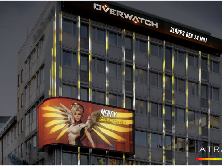 """Blizzard dominates digital billboard for the release of """"Overwatch"""""""